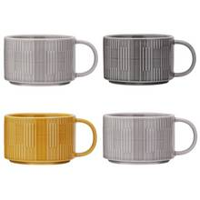 Argos Home Loft Living Set of 4 Stacking Mugs