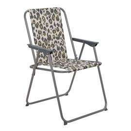 Argos Home Metal Folding Picnic Chair - Leopard Print