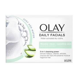 Olay Daily Facials Sensitive Cloths - Pack of 30