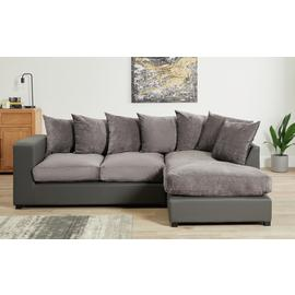 Argos Home Hartley Large Right Corner Fabric Sofa - Charcoal