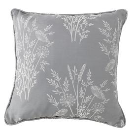 Argos Home Country Floral Jaqcuard Cushion - Grey