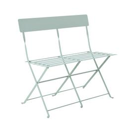 Argos Home Eve Metal 2 Seater Garden Bench - Sage Green