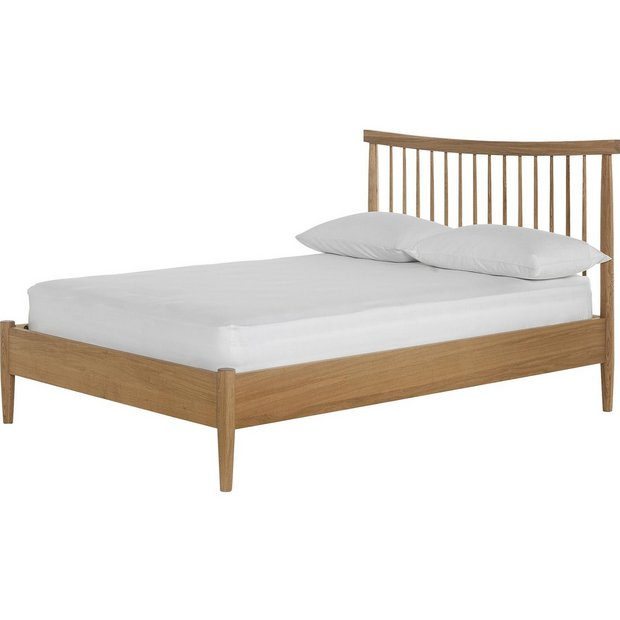 more details on heart of house dorset spindle double bed frame oak