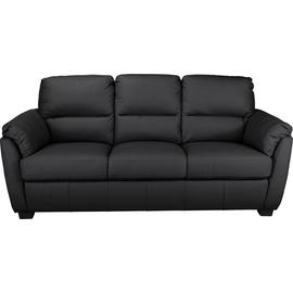 Argos Home Trieste 3 Seater Leather Sofa - Black