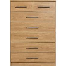 HOME Normandy 5+2 Drawer Chest - Oak Effect