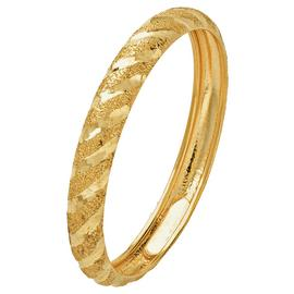 Revere 9ct Gold Diamond Cut Satin Wedding Ring - 3mm