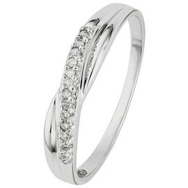 Revere 9ct White Gold Diamond Accent Eternity Ring
