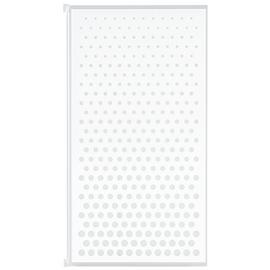 Croydex Full Framed Single Bath Screen - White & Glass