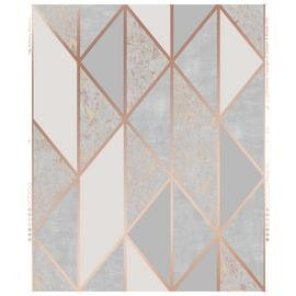 Superfresco Milan Rose Gold Geometric Wallpaper