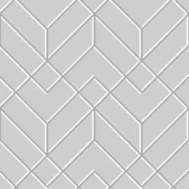 Superfresco Easy Filaires Grey & Silver Geometric Wallpaper