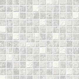 Contour Earthern Mid Grey Tile Wallpaper