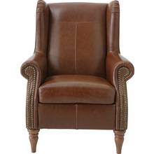 Heart of House Argyll Studded Leather Chair - Tan
