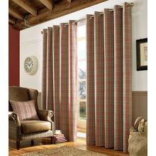 Ashley Wilde Archie Red Curtains - 229cmx229cm