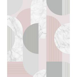 Sublime Art Deco Blush Pink Geo Wallpaper