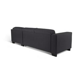 Argos Home Ava Fabric Corner Sofa Bed - Charcoal