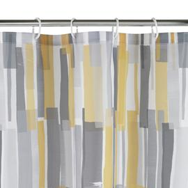Argos Home Loft Anti Bacterial Shower Curtain -Multicoloured