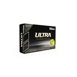 Wilson Ultra Distance Yellow Golf Balls - 15 Pack