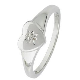 Revere Kids Sterling Silver Diamond Accent Heart Ring