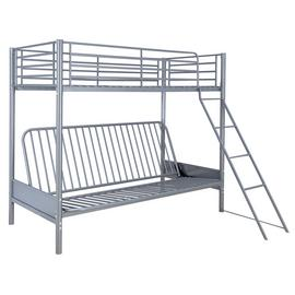 Argos Home Metal Bunk Bed, Fuchsia Futon & Kids Mattress
