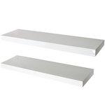 more details on Pair of 70cm Floating Shelves - White Gloss.