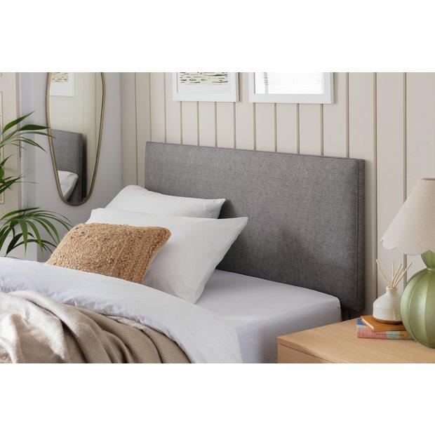 Grey Single Headboard