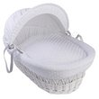 more details on Clair de Lune Dimple White Wicker Moses Basket - White.