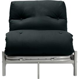 Argos Home Single Futon Metal Sofa Bed with Mattress - Black
