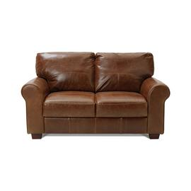 Habitat Salisbury 2 Seater Leather Sofa - Tan