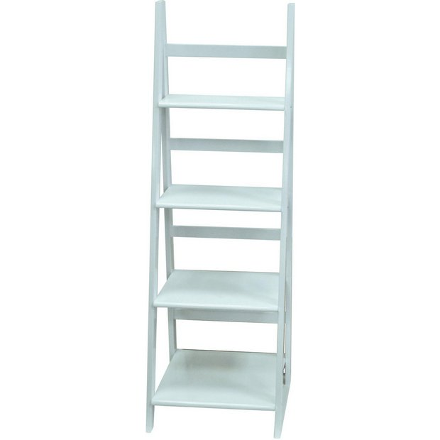 buy 4 tier display shelving unit white at your online shop for bookcases and. Black Bedroom Furniture Sets. Home Design Ideas