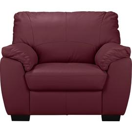 Argos Home Milano Leather Armchair - Burgundy