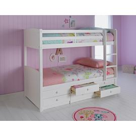 Argos Home Leigh White Detachable Bunk Bed & 2 Mattresses