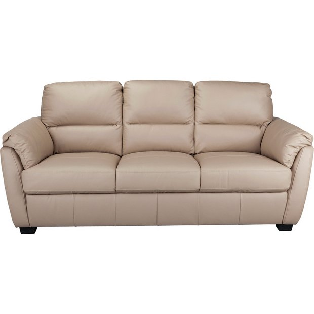 Buy Collection Trieste 3 Seater Leather Sofa Taupe At Your Online Shop For Sofas