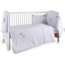 be21a35080c4a Clair de Lune Stardust 3 Piece Cot Cot Bed Set - Blue Trim