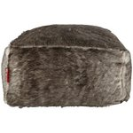 more details on HOME Acrylic Fur Beanbag - Black and Grey.