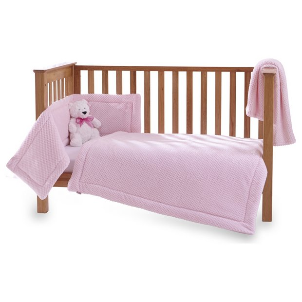 buy clair de lune honeycomb 3 piece cot cot bed set pink. Black Bedroom Furniture Sets. Home Design Ideas