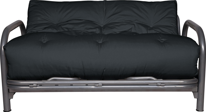 HOME Mexico 2 Seater Futon Sofa Bed   Black