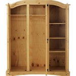 more details on Collection Puerto Rico 3 Door Wardrobe - Light Pine.