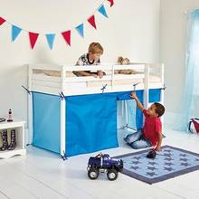 HOME Tent for Single Mid Sleeper Bed Frame - Blue