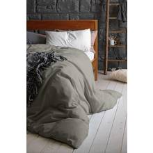 Heart of House 100% Cotton Dove Grey Bedding Set - Kingsize