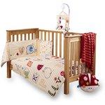 more details on Clair de Lune Cot Bed Quilt and Bumper Set - ABC.
