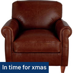 Argos Home Kingsley Leather Club Chair - Tan