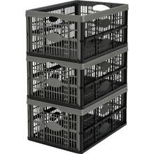 Argos Home 32 Lt Plastic Folding Storage Crates - Set of 3