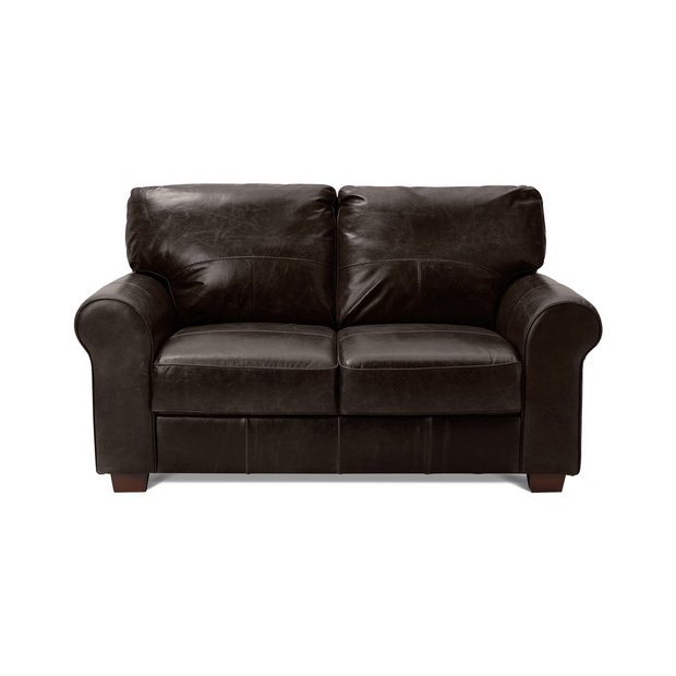 Buy Heart Of House Salisbury 2 Seater Leather Sofa Chocolate At Your Online Shop