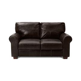 Argos Home Salisbury 2 Seater Leather Sofa - Dark Brown