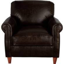 Heart of House Kingsley Leather Club Chair - Dark Brown