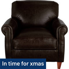 Argos Home Kingsley Leather Club Chair - Dark Brown