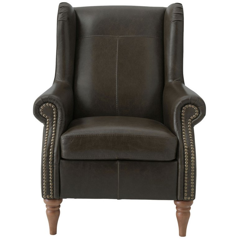 Buy Heart of House Argyll Studded Leather Chair ...