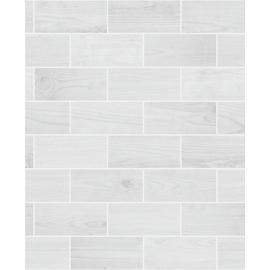 Contour Wooden Tile Grey Wallpaper