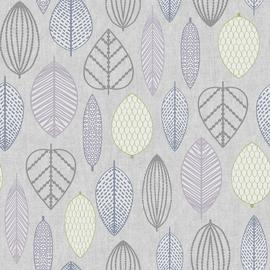 Superfresco Easy Scandi Leaf Lilac Wallpaper