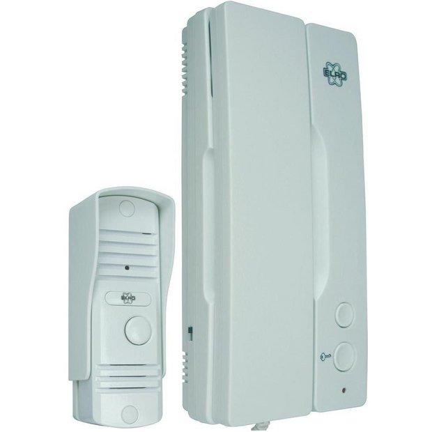 Buy Smartwares Wired Intercom Doorbell   CCTV and security   Argos